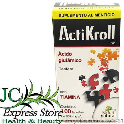 ACTIKROLL GLUTAMIC ACID THIAMIN 100 TABLETS ACIDO GLUTAMICO CON TIAMINA 807mg