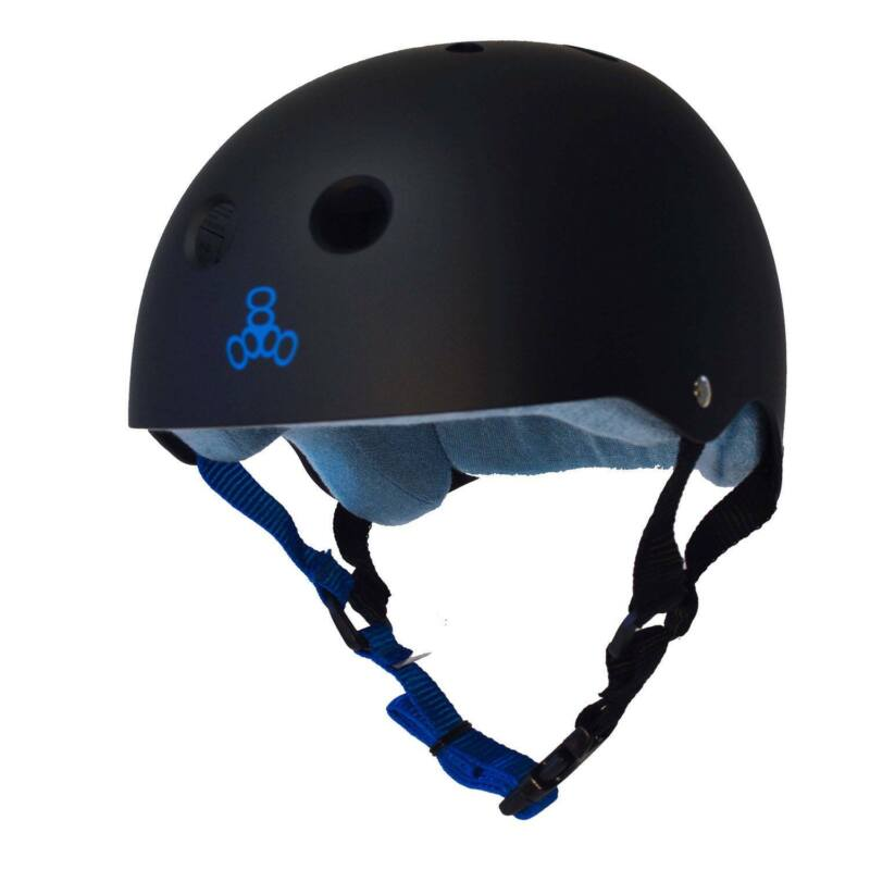 Triple 8 Sweatsaver Helmet-Black / Blue-Small