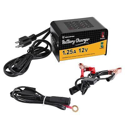 DEKO Battery Maintainer Charger 12 Volt 1.25 Amp Smart for M
