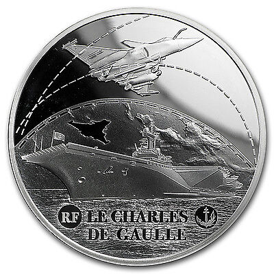 2016 Silver €10 Great French Ships Proof (Charles de Gaulle) - SKU #97842