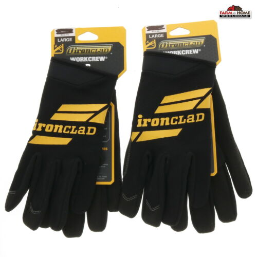 2 Pairs Ironclad Lightweight Work Gloves Large ~ New
