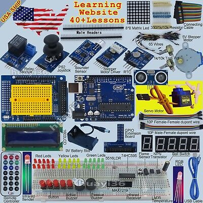 Epal Ultimate UNO R3 Starter Kit for Arduino 1602LCD Servo Motor LED Relay RTC