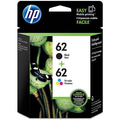HP 62 Combo Ink Cartridges 62 Black & Color NEW GENUINE