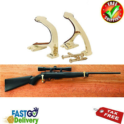 Display Wall Mounting Kit - Gun Display Wall Mount Weapon Brass Storage Shotgun Hooks Rifle Wall Hanger Kit