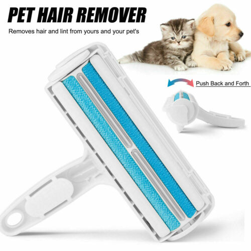 US Reusable Pet Hair Remover Dog Cat Lint Fur Roller Sofa Clothes Cleaning Brush