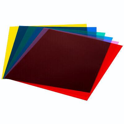 """Neewer 7""""x8"""" Transparent Color Correction Gel Filter Set Pack of 6 Gel Sheet"""
