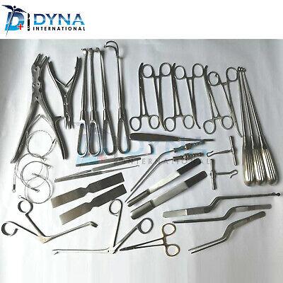 Basic Craniotomy Set Of 40 Pcs Surgical Spine Orthopedic Instruments