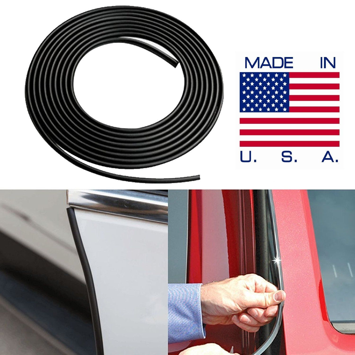 Car Parts - BLACK Door Edge Guard Trim Molding Car SUV Truck - Made in the USA FAST SHIPPING