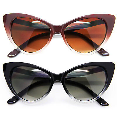 50s Cat Eye Sunglasses (Classic 50's Retro Cat Eye Women Sunglasses Gradient Plastic Frame Dark Lens)