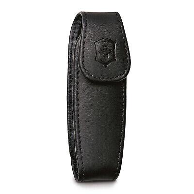 Victorinox Medium Pocket Knife Clip Pouch, Leather Black