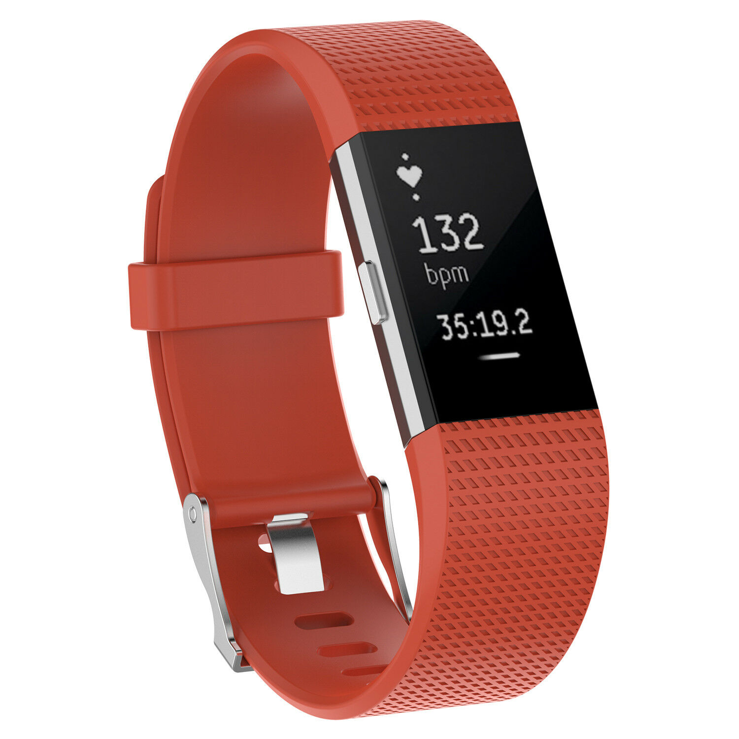 For Fitbit Charge 2 /  2 HR Replacement Silicone Bracelet Watch Band Orange