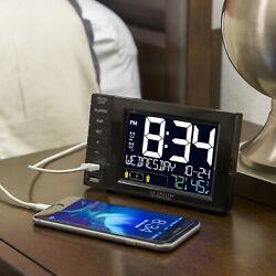 La Crosse Technology S85906 Desktop Dual USB Charging Station with Dual alarms