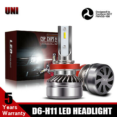 Fit 2013-2019 RAM 1500 TURBOSII 13200LM 6500K H11 LED Headlight Bulb Low