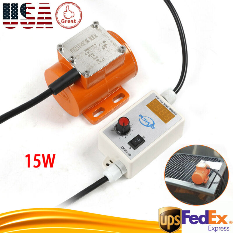 DC 12V Brushless Micro Motor Vibration 15W+Speed Controller for Food Machinery