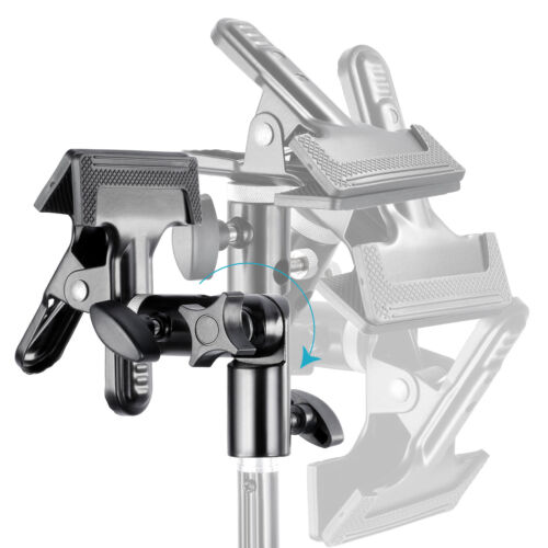 """Neewer Studio Metal Clamp Holder w/ 5/8"""" Light Stand Attachment for Reflector"""