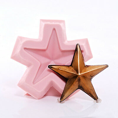 Primitive Lone Star Silicone Mold Soap Wax Candle Chocolate Resin Clay  (970)