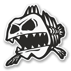2 x zombie peces pegatina de vinilo calcoman a ipad laptop for Pegatinas de peces