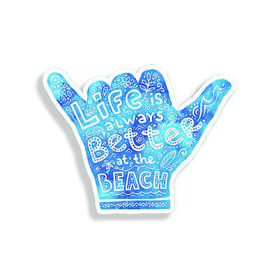 Hang Loose Sticker Shaka Life Beach Ocean Laptop Cup Car Window Bumper Decal