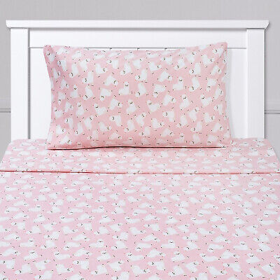 Llamas Kids Sheet Set Pink White Twin, Twin XL, Full (Pink Sheet Set Full)