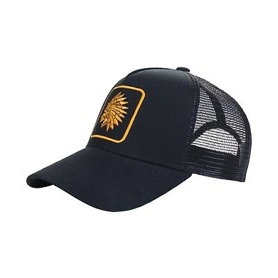 Beautiful Giant Men's Chief Head Snapback Mesh Trucker Hat Curved Bill Cap (Giant Mesh Hat)