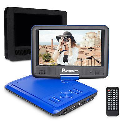 "NAVISKAUTO 9"" Rotatable Screen Portable DVD Player Car&Home Use +Remote Control"