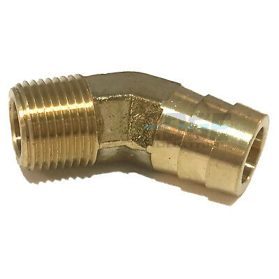 58 Hose Barb X 38 Male Npt Brass Elbow 45 Degree Pipe Fitting Thread Gas Fuel