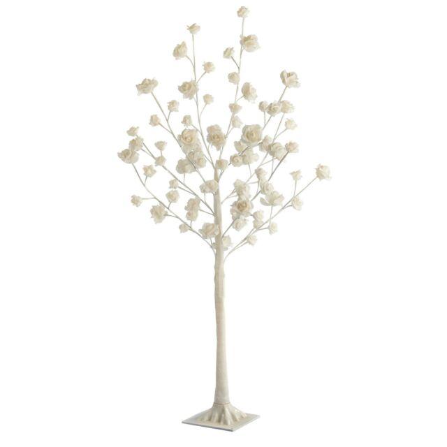 Stunning Rose Tree Floor Lamp Cream 72 LED Lights 120cm Livingroom Wedding