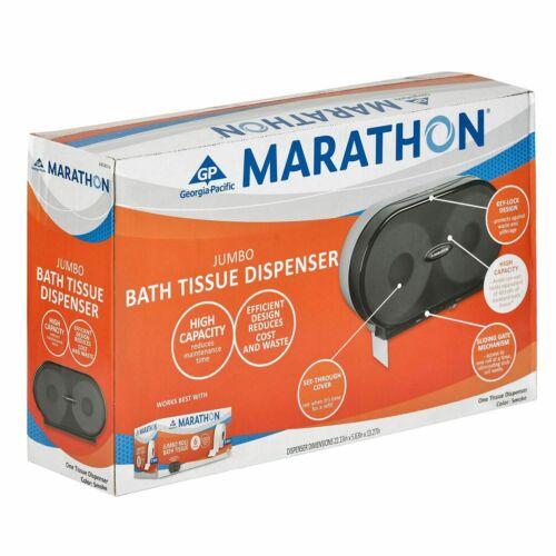 Marathon Jumbo Bath Tissue Dispenser, 6,000 Sheets Capacity, Smoke Grey
