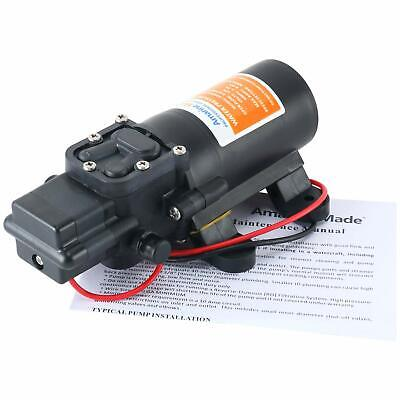 40psi Dc12v 3.8lmin Solid Electric Diaphragm Water Pump Self Priming Fr Rv Boat