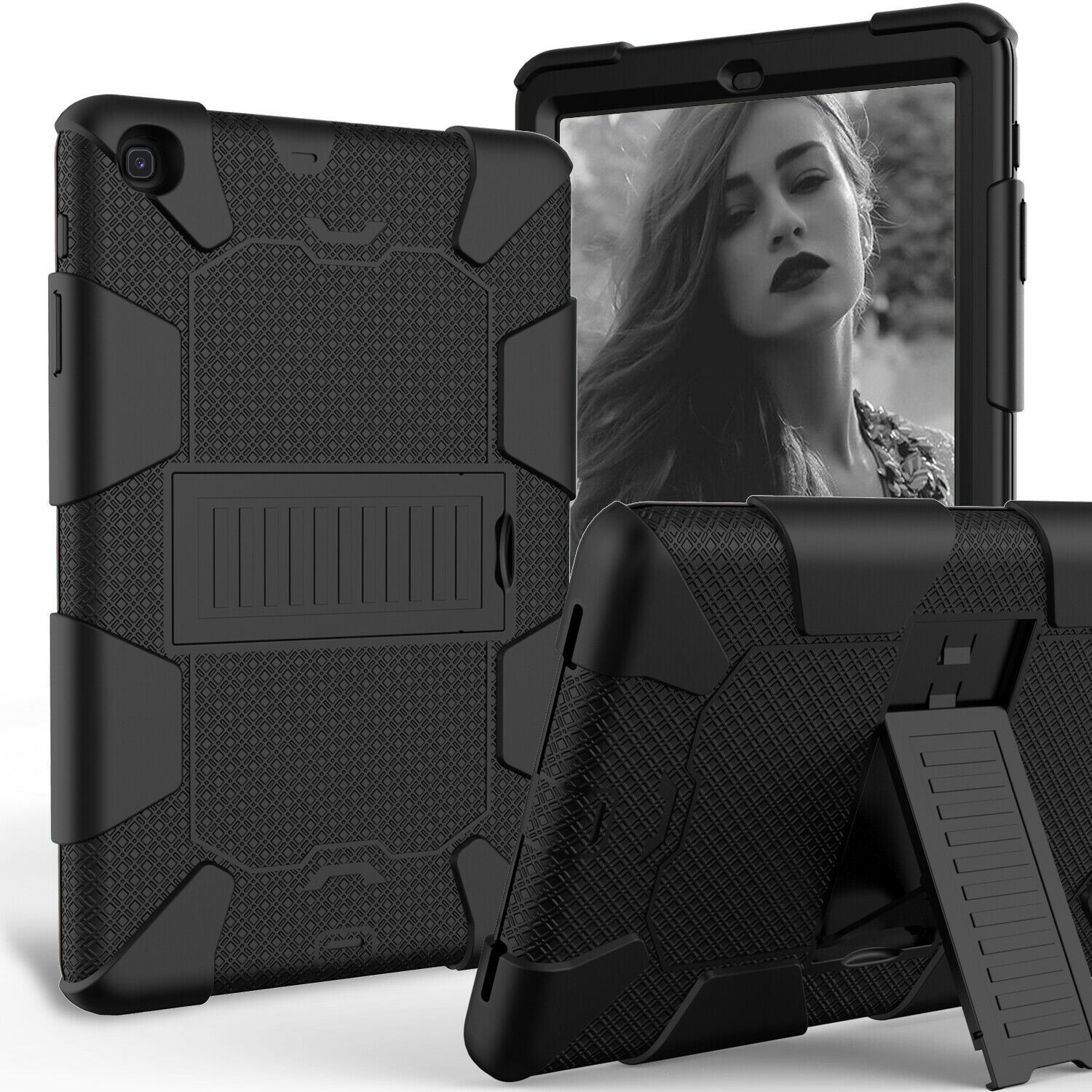 For Samsung Galaxy Tab A 10.1 SM-T510 T515 2019 Shockproof Armor Stand Case Cases, Covers, Keyboard Folios