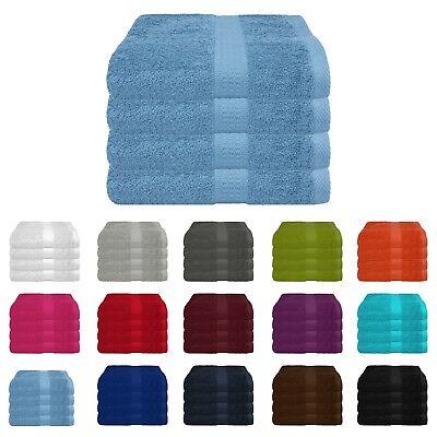 Handtücher Handtuch 4er Set 100% Baumwolle 500g/m² 50x100 cm Öko-Tex