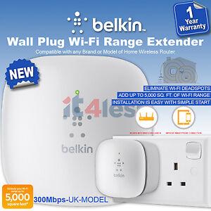 belkin n300 universal wi fi range extender wireless signal booster easy setup ebay