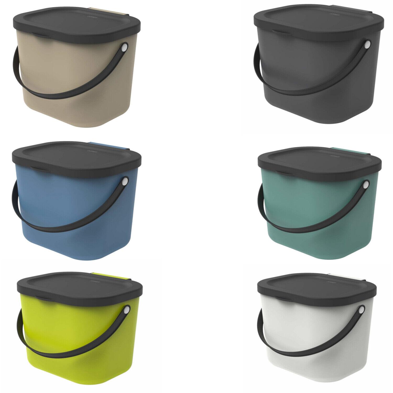 Abfallbehälter Biomülleimer zur Mülltrennung 6L ROTHO Müll- & Abfalleimer
