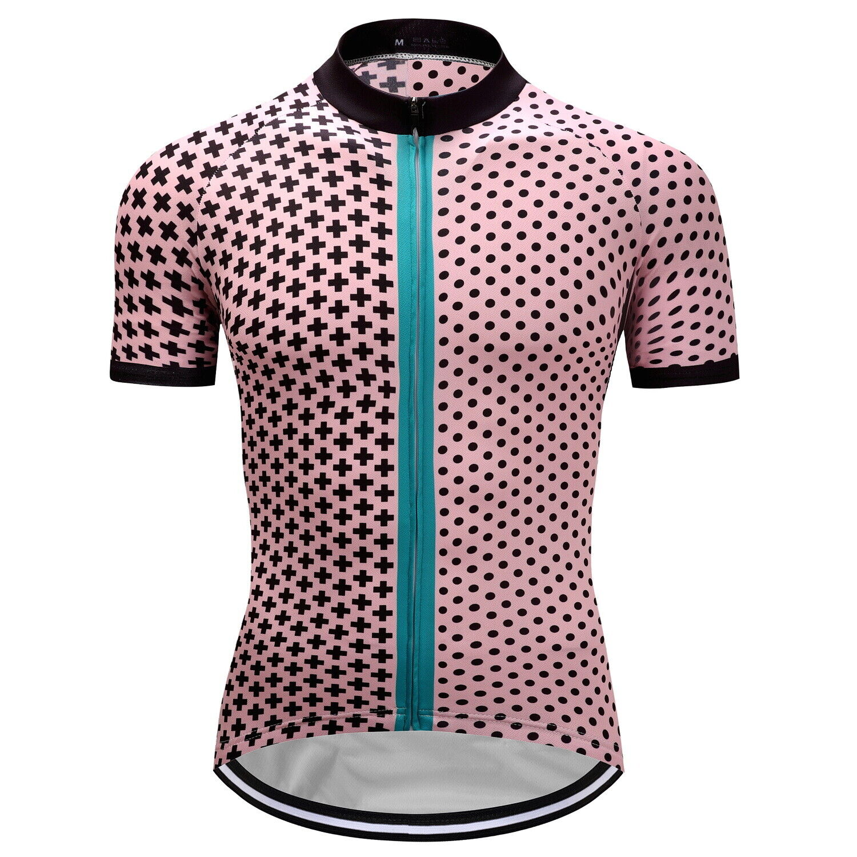 Mens Road MTB Cycling Jersey Bike Shirt Short Sleeve Tops Cl