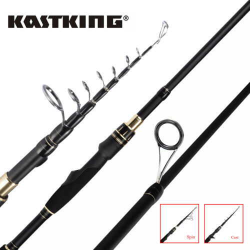 KastKing BlackHawk II Fishing Rod Travel Telescopic Pole Spi
