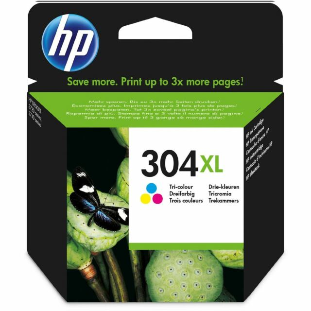 1 x HP No 304XL High Capacity Colour Original OEM Inkjet Cartridge N9K08AE