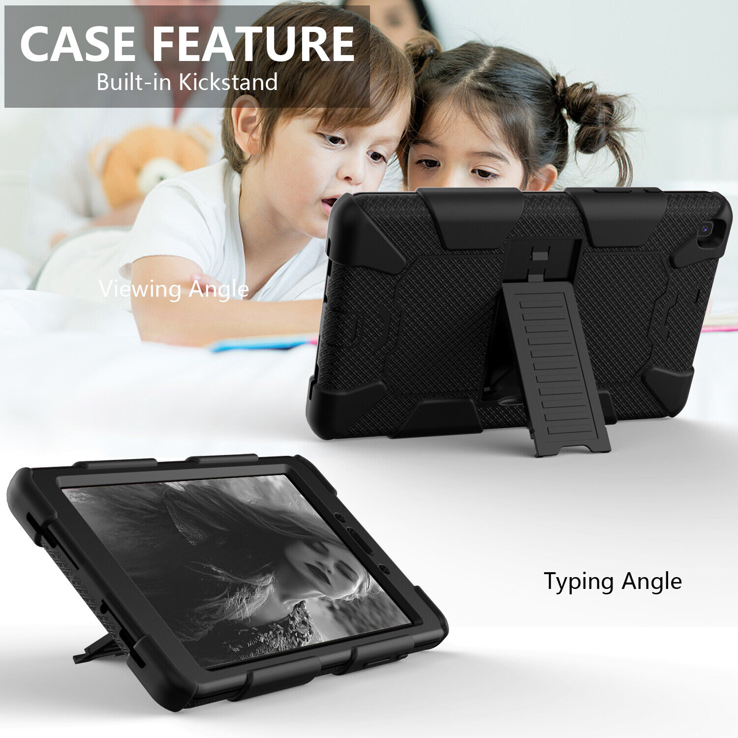 For Samsung Galaxy Tab A 8″ SM-T290/T295 Shockproof Rugged Tablet Case+ Screen Cases, Covers, Keyboard Folios