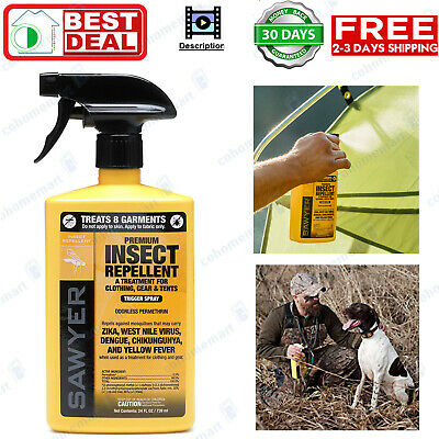 Sawyer Products Premium Permethrin Clothing Insect Repellent Pump Spray 24oz New Insect Repelling Pump Spray