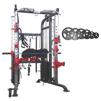 New F70 Functional Trainer Monster Gym and Weight Pack
