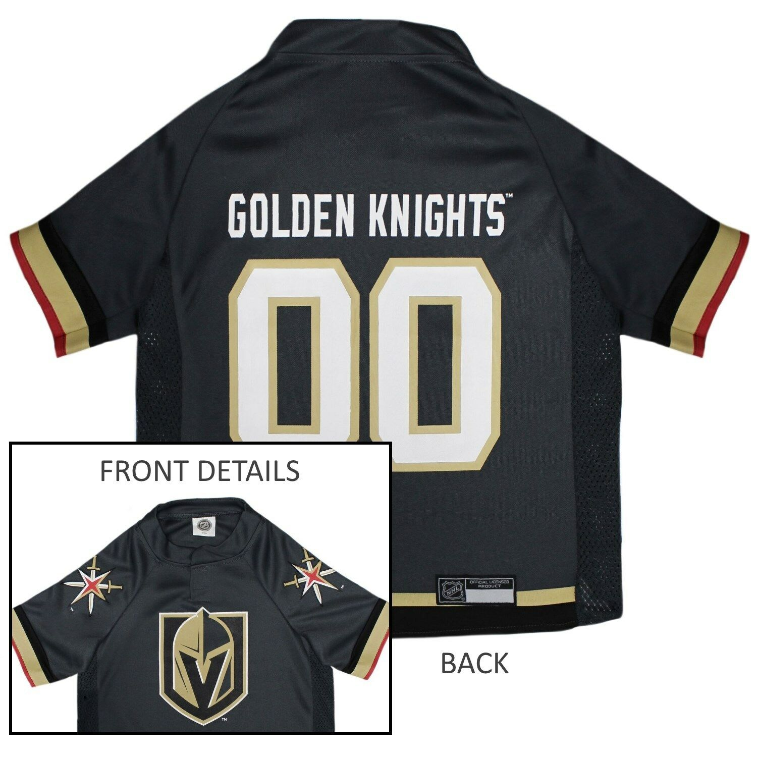 premium selection ca54d e8b11 Details about Vegas Golden Knights NHL Pets First Licensed Dog Pet Hockey  Jersey Sizes XS-XL