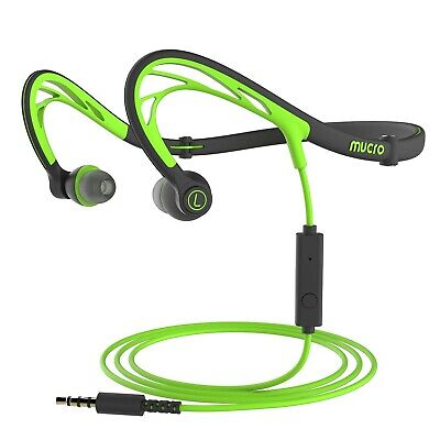 Foldable Wired Running Sports Headphones, Night Neckband in-Ear Stereo Workou...