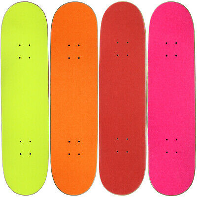 "4 Blank Skateboard Decks 8.0"" Natural Pre-Gripped Warm Colors BULK LOT"