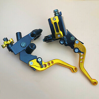 Brake Clutch Lever Kit - Universal 7/8'' CNC Motorcycle Brake Clutch Master Cylinder Lever Kit Reservoir