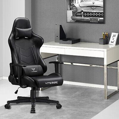 Gaming Chair Rocking Racing Style Computer Office Chair Headrest Lumbar Pillow