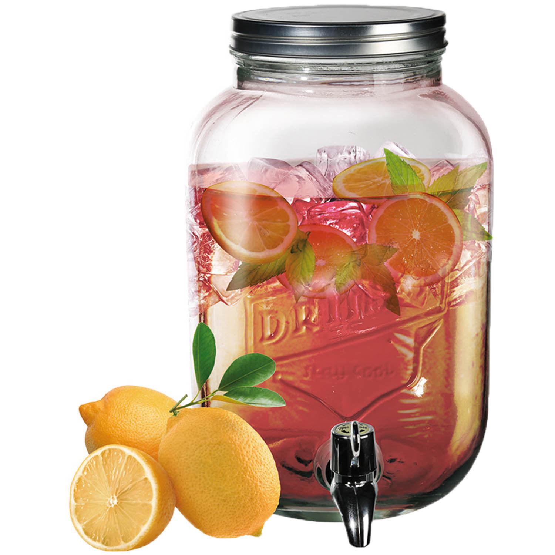 3 5l Glass Drink Dispenser Cocktail Beverage Juice Party Summer Tap 14 Servings Ebay
