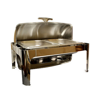 Lot45 | Chafing Dish Buffet Set – 8 Qt Chafing Dish and Half-Size Catering Trays ()