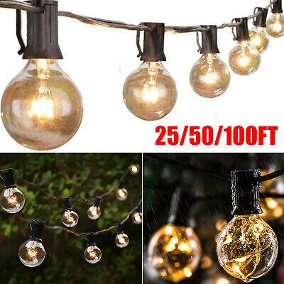 25/50/100FT Waterproof G40 Globe Bulbs Patio Hanging String Lights Outdoor Light
