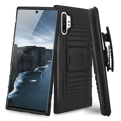 For Samsung Galaxy Note 10/Plus Magnetic Ring Stand Phone Case Belt Clip Holster Clip Case Plus Magnet