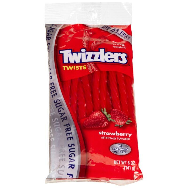 Twizzlers Sugar Free Twists - Strawberry - 5 oz - (12 PACK)
