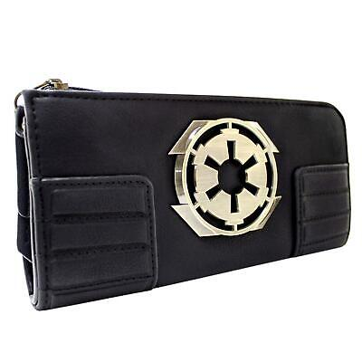 NEW OFFICIAL STAR WARS GALACTIC EMPIRE BADGE BLACK COIN & CARD CLUTCH PURSE